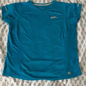 Blue Nike Dri-Fit Top